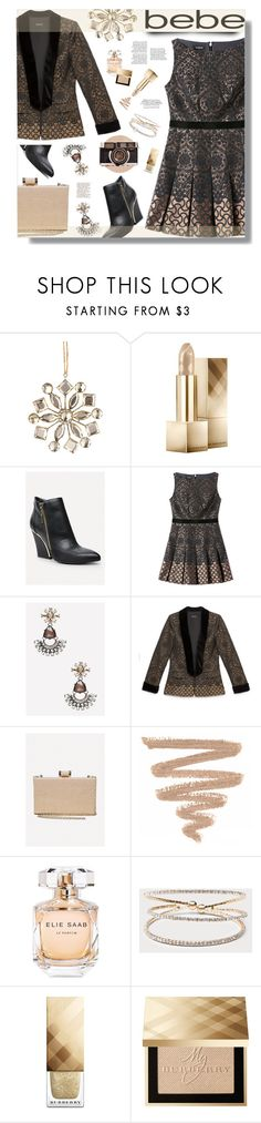 Soirée de Luxe with bebe Holiday: Contest Entry by prigaut on Polyvore featuring Bebe, Burberry, Elie Saab and Anja