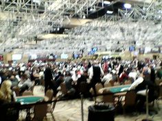 Big crowd of #pokerplayers at the #WSOP Main Event on opening day 7/07.
