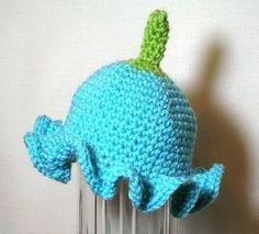 crochet morning glory flower pattern | Name: 'Crocheting : Baby and Child Morning Glory Flower Hat