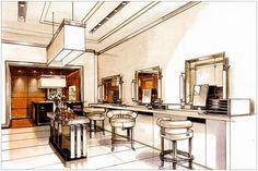 bhdm design - cosmetics store rendering 2