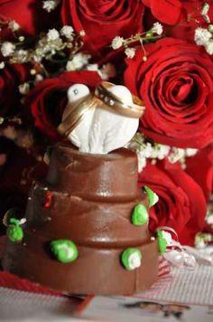 Bolinho de Chocolate Casamento.