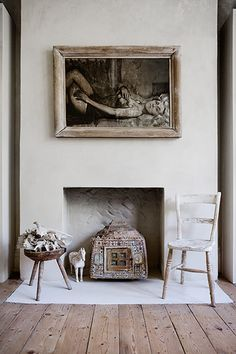 Look to nature for inspiration I'm drawn to the bleached colours of dried flowers, shell, driftwood and bone, which is where the palette for the flat comes from. I found the sheep's skull by my fireplace while walking on the moors in Devon.