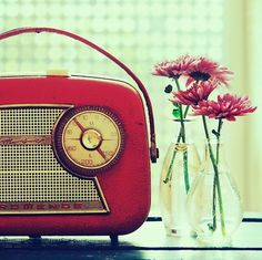 Cute radio for bedside table