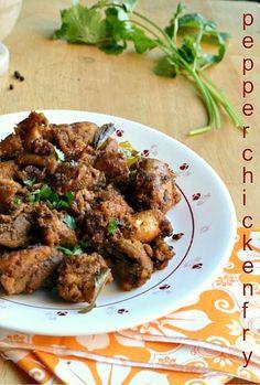 Nalini'sKitchen: Pepper Chicken Fry