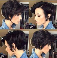New Short Haircuts 2019 - Dyed Hair - Blonde Hair - Gray Hair And More! New Short Haircuts 2019 - Dyed Hair - Blonde Hair - Gray Hair And More! - short-hairstyles New Short Haircuts 2019 - Dyed Hair - Blonde Hair - Gray Hair And More! Long Pixie Hairstyles, Short Pixie Haircuts, Haircuts With Bangs, Hairstyles With Bangs, Bob Haircuts, Asymmetrical Haircuts, Hairstyle Ideas, Undercut Hairstyle, Gorgeous Hairstyles