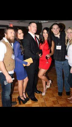 WWE Star John Cena now dating Nikki Bella of the Bella TWINS. WWE star Daniel Bryan also dates the other Twin Brie Bella. Interesting.