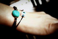 Summer bracelets #evileye #bluestone