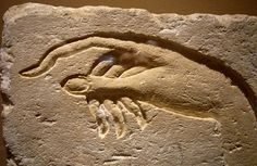 Hand of Akhenaten making an offering to Aten.  Ancient Egypt, from Ashmunein Dynasty 18 Sandstone Metropolitan Museum of Art