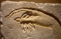 Hand of Akhenaten making an offering to Aten.  Ancient Egypt, from Ashmunein Dynasty 18 Sandstone Metropolitan Museum of Art