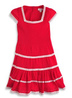tiered cotton babydoll dress
