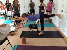 86 best iyengar yoga chair standing poses images  iyengar