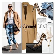 """Wear a Camel Coat!"" by svijetlana ❤ liked on Polyvore featuring 7 For All Mankind, STELLA McCARTNEY, Dolce&Gabbana, Pierre Hardy, Balenciaga, Kiki de Montparnasse and camelcoat"