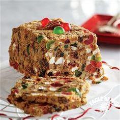 No-Bake Jeweled Fruitcake from Eagle Brand® - I use golden raisins instead of mincemeat