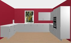 Modern Glossy Grey Kitchen. Design Your Dream Kitchen with the Free 3D Kitchen Planner.