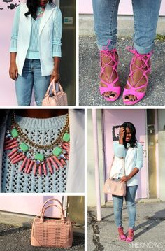 5 Spring outfits styled by SheKnows experts. gorgeous colors and styles to update my Spring wardrobe!