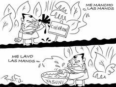 Me mancho las manos con Chevron, me lavo las manos con el Yasuní. Campaña presidencial #LasManosSuciasdeChevron