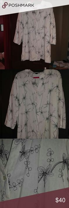 GORGEOUS LINEN/RAYON CLUB Z COLLECTION JACKET So pretty this is a white with beautiful black thread drawing run through the jacket. It is hard to explain but is a gorgeous piece of clothing and will go with a lot. It did for me. Pulls an outfit together in minutes. Perfect condition. You gotta have. Size 3x Club z collection Jackets & Coats Capes