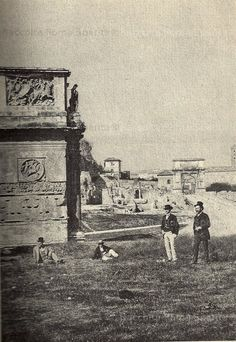 Arco di Costantino ancora parzialmente interrato 1870 Italy Pictures, Old Pictures, Old Photos, Arch Of Titus, Arch Of Constantine, Egypt Art, War Photography, Vintage Italy, Grand Tour