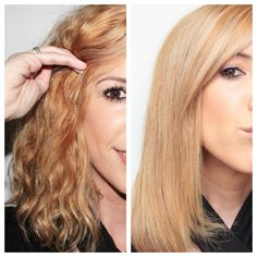 Natural Treatments to Smooth Hair Crespo Hairstyles For School, Curled Hairstyles, Straight Hairstyles, Frizzy Hair, Ghd, Smooth Hair, Some Girls, Flat Iron, Natural Treatments