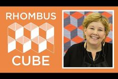 Make a Rhombus Cube Quilt the EASY Way!