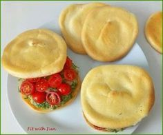 Cloud Bread Pane Nuvola without Carbohydrates Mexican Food Recipes, Italian Recipes, Keto Recipes, Cooking Recipes, Healthy Recipes, Healthy Food, Cloud Bread, Sin Gluten, Low Carbon