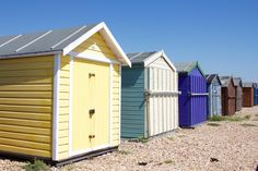Beach huts in Hayling Island, UK