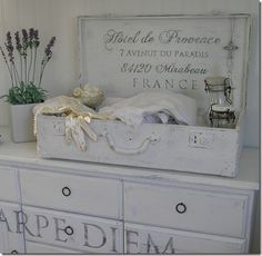great work ~ Love how she used the old suitcase