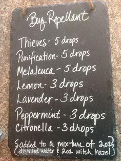 Bug Repellent Spray Recipe