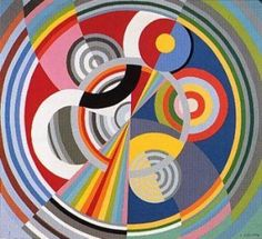 Sonia Delaunay was a Jewish-French artist who, with her husband Robert Delaunay and others, cofounded the Orphism art movement, noted for its use of strong colours and geometric shapes. Sonia Delaunay, Robert Delaunay, Georges Braque, Geometric Patterns, Geometric Shapes, Tile Murals, Art Moderne, Art Abstrait, French Artists
