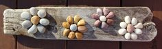 driftwood and small stones