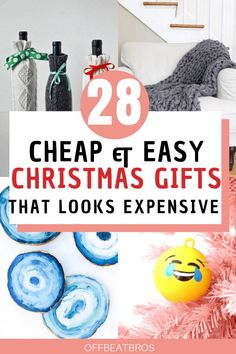 Beautiful DIY christmas gifts ideas for family, friends co-workers that looks expensive and amazing but are cheap and easy to make. These list of christmas gift ideas on budget has gifts for everyone on your list. Your complete christmas gifting guide. Diy Christmas Gifts For Friends, Cheap Christmas Gifts, Christmas Gift Baskets, Handmade Christmas Gifts, Christmas Gift Guide, Simple Christmas, Xmas Gifts, Christmas Diy, Elegant Christmas