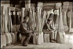 My brother Charles made brooms in Romney, WV where he was in the Blind school in 1937