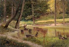 Forest by Ivan Shishkin. Realism. landscape