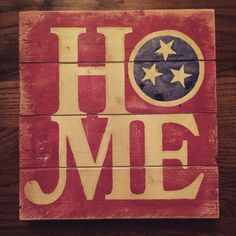 Tennessee Flag home sign  by THEURBANUPCYCLETN on Etsy