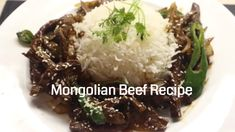 Mongolian BeefRecipe - Beef Stir Fry - How To Cook Mongolian Beef - Chi... Mongolian Beef Recipes, Chinese Stir Fry, Best Juicer, Beef Stir Fry, Juicers, Blenders, Allrecipes, Fries, Cooking