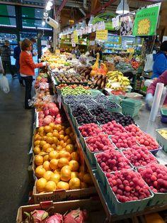 Indoor market on Granville Island, Vancouver, Canada.  Photo: Lazy B via Flickr