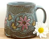 Handmade pottery mug-   Suzanne Rehbock Sweet!