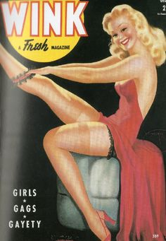 WINK magazine pinup cover