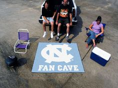 "The North Carolina Tar Heels Man Cave Tailgater measures 60""x72"", made in the USA by FanMats"