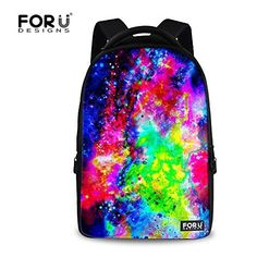 FOR U DESIGNS Galaxy Style School Personalized Large Capacity College Laptop Backpack for Teens ** Amazon most trusted e-retailer