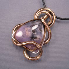 Amethyst Sage Pendant Wire Wrapped Pendant on by UptightWanda, $50.00