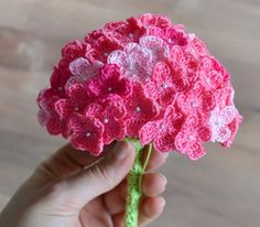 Beautiful Crochet Hydrangea patterns are so simple to put together, and can add a beautiful touch of elegance to your table, or other crochet projects!