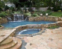 Unique Swimming Pool Ideas | Custom Swimming Pools Design in NJ, NJ Gunite Pools, Vinyl Pools ...