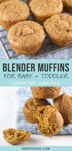 These healthy blender muffin recipes are beyond moist and tender, taste amazing, and maybe most importantly, they're super easy to make! It takes just five minutes of prep to make these healthy mini m Baby Muffins, Little Muffins, Mini Muffins, Breakfast Muffins, Cranberry Yogurt Muffins, Baby Food Recipes, Gourmet Recipes, Pumpkin Recipes For Babies, Recipes For Snacks