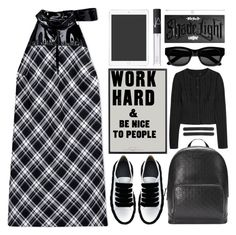"""work hard"" by foundlostme ❤ liked on Polyvore featuring Maison Margiela, Marco de Vincenzo, Gucci, Alaïa, L. Erickson, Sun Buddies, NARS Cosmetics, Kat Von D, Georg Jensen and whitesneakers"