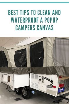 Popup campers are great for the low-maintenance traveler, but cleaning the canvas popouts is necessary for keeping dirt and mildew at bay. Regularly cleaning and… Tent Trailer Camping, Pop Up Tent Trailer, Tent Campers, Small Campers, Camper Trailers, Travel Trailers, Jayco Pop Up Campers, Best Pop Up Campers, Airstream Campers