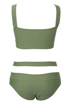 You're comin' in cross. Product Code: CYY432 Details: Olive green Front Cross design With padding bra High leg cut Fabric:Chinlon,Elastane Free Shipping! SIZE