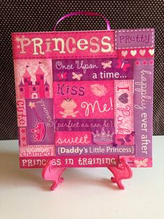 Perfect+Princess+PURPLE+PINK+GLITTER+Girls+Room+Decor+Ceramic+Wall+Hanging+