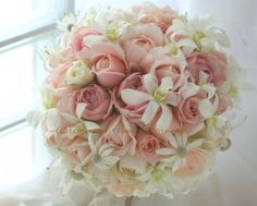 rose and orchid bouquet