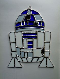 Stained Glass R2D2  Sun catcher  Star Wars